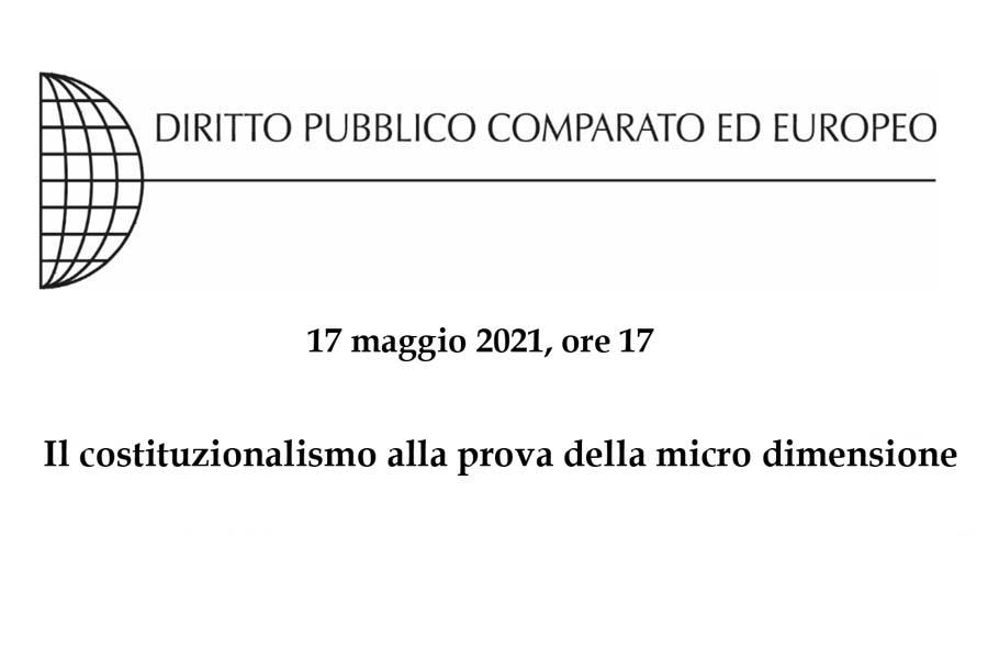 BANNER I micro Stati. La sfida della micro dimensione e le sue ricadute costituzionali 17 maggio 2021