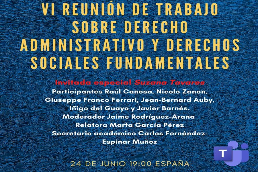 BANNER derecho administrativo y derechos sociales fundamentales 24 giugno 2021