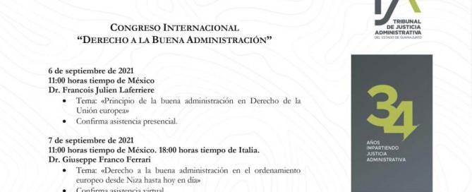BANNER Programa Congreso Internacional. 34 aniversario. TJA GTO 7 settembre 2021